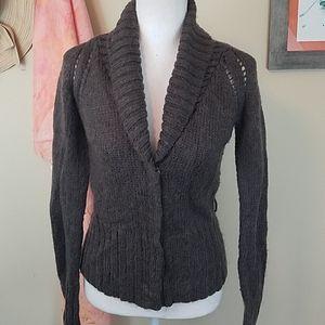 Gap Sm Brown Mohair Blend Long Sleeve Sweater
